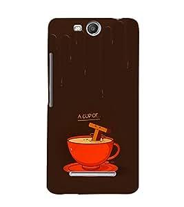 EPICCASE A cup of Tea Mobile Back Case Cover For Micromax Canvas Juice 3 Q392 (Designer Case)