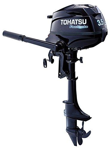 """2016 Tohatsu 3.5 Hp 4 Stroke Outboard Motor Tiller 20"""" Shaft Engine"""