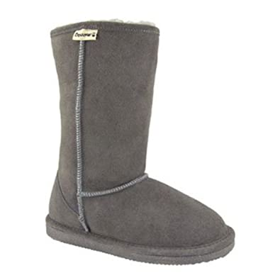 "BEARPAW Women's Eva 10"" Shearling Boot,Grey,10 M US"
