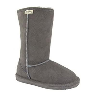 "BEARPAW Women's Eva 10"" Shearling Boot,Grey,9 M US"