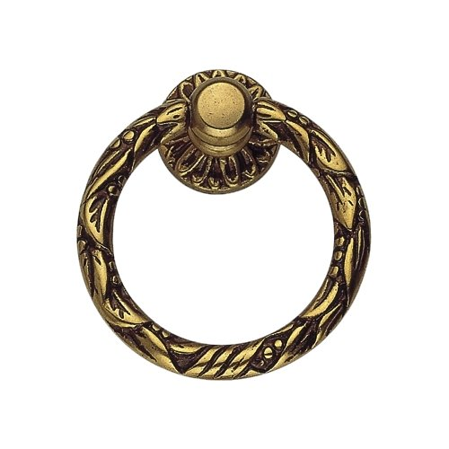 Bosetti Marella 101056.54 Louis XVI Brass Ring Pull, French Antique Gold, 2-by-1.66-Inch