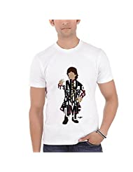 Bluegape Grante Designs Tyrion Lannister Game Of Thrones Typography Round Neck T-shirt, White
