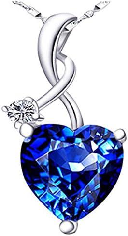 Mabella 4.03 CTW Heart Shaped Blue Pendan