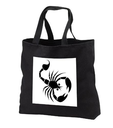 TNMGraphics Animals - Scorpion Sideways - Tote Bags - Black Tote Bag 14w x 14h x 3d