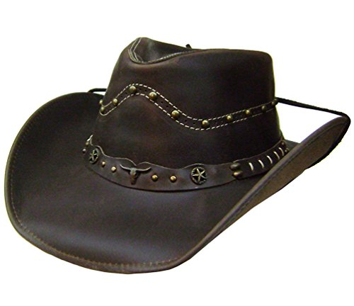 modestone-mens-leather-cappello-cowboy-studs-conchos-xl-brown