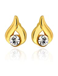 Mahi Eita Collection White Gold Plated Crystal Stones Stud Earrings For Women-ER1103681G