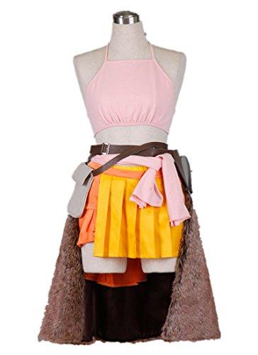 [SQUARE ENIX Final Fantasy XIII FF13 Cosplay Costume-Oerba Dia Vanille 6Pcs Set] (Vanille Cosplay Costume)