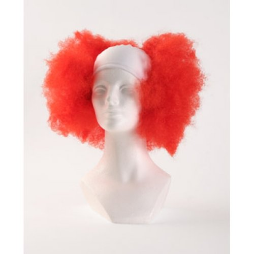 Bald Curly Clown Wig - Red