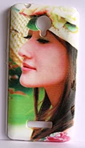 Vcare Shoppe Exclusive Silicon Printed Soft Back Case Cover For Micromax Canvas Spark Q380 - Cute Girl Face