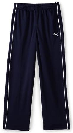 PUMA Big Boys' Athletic Pants, Peacoat Blue, Small