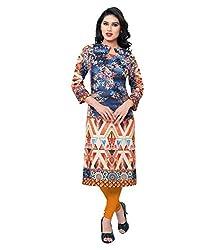 Shubh Women's Cotton Kurti (Shubh_190_Multi-Coloured_Free Size)
