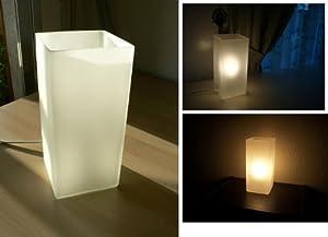 Ikea lampe de table grono blanc verre givr 22cm for Lampe de chevet chez ikea