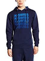 K-Swiss Sudadera con Capucha K Spell Out (Azul Oscuro)
