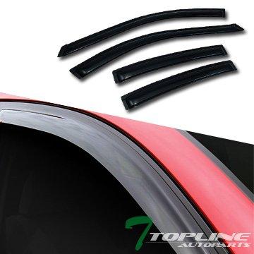 Smoke Sun/Rain Guard Vent Shade Deflectors Window Visors 4Pcs 04-08 Acura Tl 4Dr