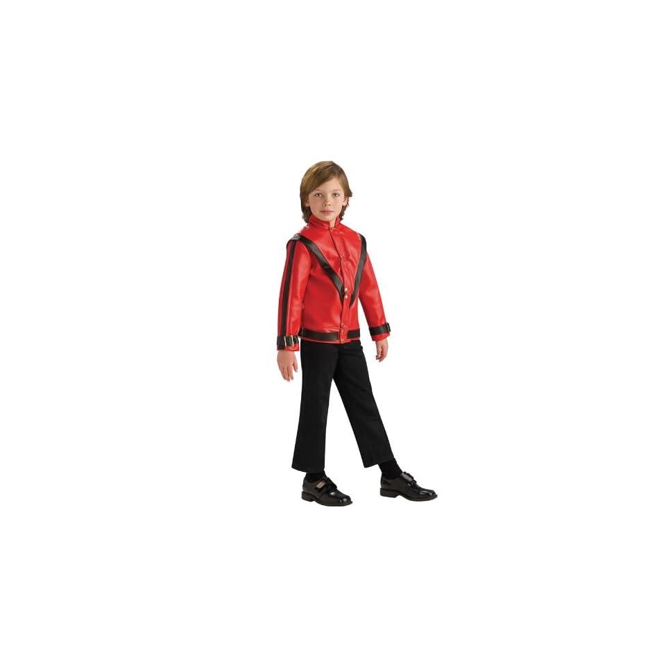 Michael Jackson Thriller Red Jacket Child Medium 8 10 Pop Star