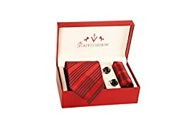 Beautiful Tie-Cufflinks-Pocket Square Gift set by The Vatican