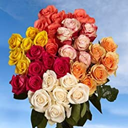 Assorted Mother\'s Day Flowers | 100 Assorted Colors Roses