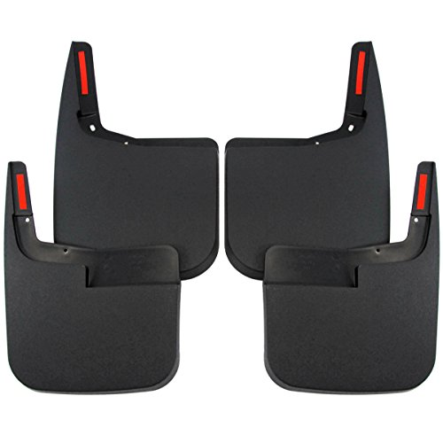 2015-2017 Ford F-150 Mud Flaps Mud Guards Splash Front Rear Molded 4pc Set (without Fender Flares) (Mud Flaps Splash compare prices)