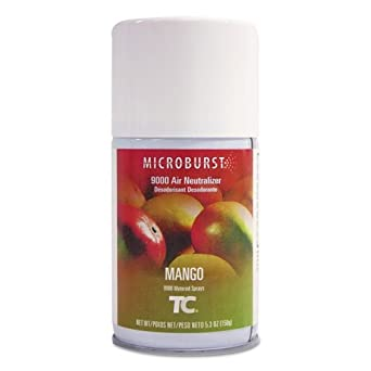 Rubbermaid Commercial FG401693 Refill for Microburst 9000 Automatic Odor Control System, Mango