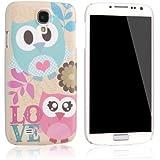 tinxi® ABS-Kunststoff Schutzhülle für Samsung Galaxy S4 i9500 hard case harte cover Rückschale Etui Tasche Skin matt mit Eule Owl Muster
