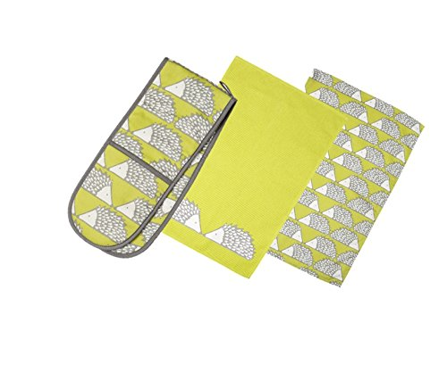 spike-the-hedgehog-print-tea-towels-double-oven-glove-set-bright-lime-green-charcoal-grey-white-hedg