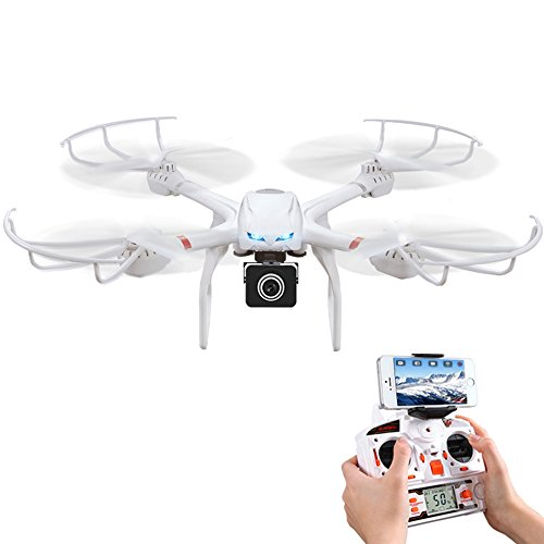 MJX X101C Wifi FPV RC Quadcopter Drone with HD 720P Camera One...