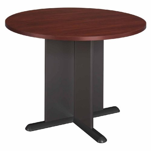 Bush Furniture Round Conference Table, Hansen Cherry/Galaxy