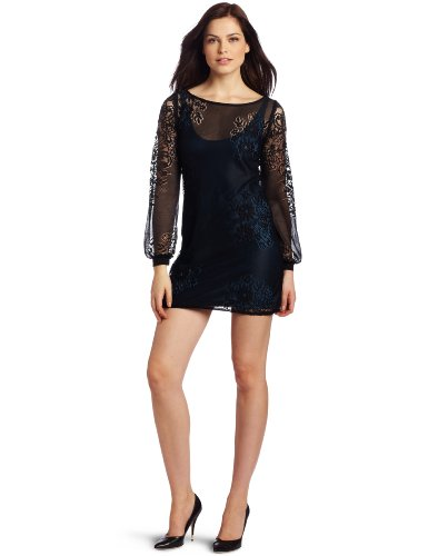 Only Hearts Women's Caroline Lace Mini Shift Dress with Liner