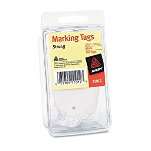 Avery Marking Tags, 2-3/4 x 1-11/16, White, 100/Pack, PK - AVE11012