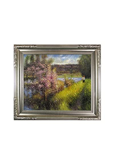 Pierre Auguste Renoir's The Seine At Chatou Framed Hand Painted Oil On Canvas