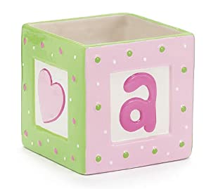 Amazon.com: ABC'S Decorative Baby Block Planter Adorable Nursery ...