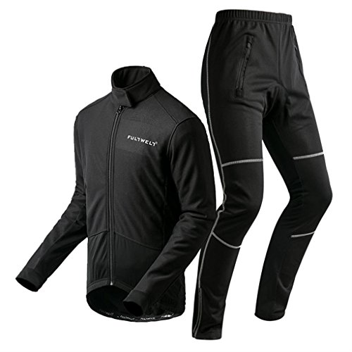 koraman-winter-thermal-fleece-breathable-pro-road-cycling-jerseys-and-cycling-trousers-kit-in-black-