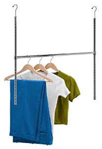 Honey-can-do Hng-01816 Chrome Adjustable Hanging Closet Rod: Home & Kitchen