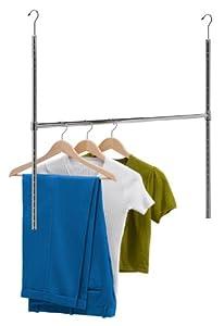 Honey-Can-Do HNG-01816 Chrome Adjustable Hanging Closet Rod