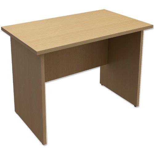 Trexus Classic Rectangular Return Desk Panelled W1000xD600xH725mm Oak
