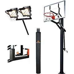 Goalrilla GS54 with Pole Pad, Backboard Pad & Deluxe Hoop Light, Adjustable 54... by Goalrilla Goals