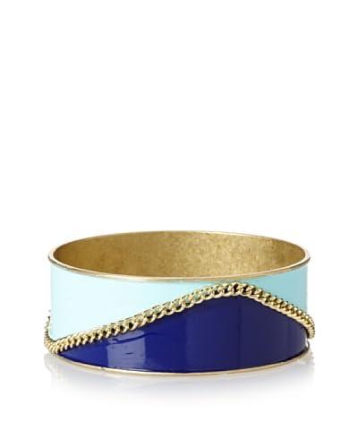Helene Blue Wave Chain Bangle