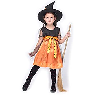 B-JOY Charmed Witch Girls Costume Children Classic Witch Glitter Witches