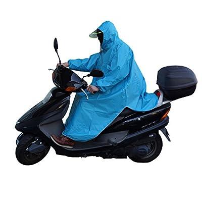 極厚 レインポンチョ バイク 自転車 原付 スクーター フリーサイズ レインコート レインウェア 雨ガッパ (スカイブルー) PR-RAIN-PONCHO-BL