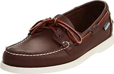顶级船鞋 仕品高Sebago 男士粒面真皮船鞋藏蓝 Docksides B727   $48.73