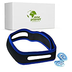 Anti-Snore Chin Strap Clip by One Planet with Anti-Snore Nose Clip Stops Heavy Breathing & Enjoy Restful Quality Sleep Adjustable Wide Chin Straps For Comfortable Use Sleep Better Now!