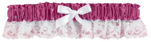 Hortense B. Hewitt Wedding Accessories Ribbon and Lace Garter, Purple