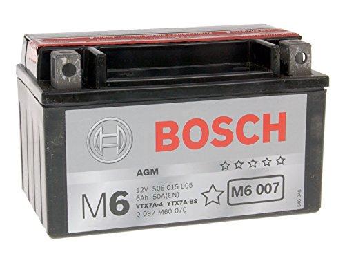 Batterie Bosch YTX7A-BS für Rex RS 1000 125 4T Bj. 2009-2014 - inkl. 7,50 EUR Batteriepfand
