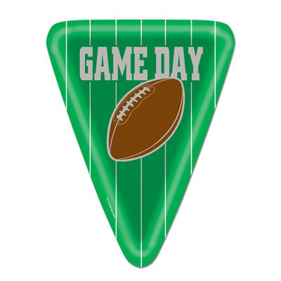 Game Day Football Plates (triangular-shaped)    (8/Pkg)