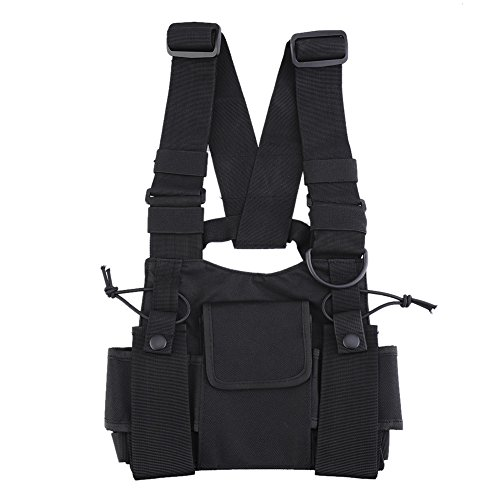 Universal Radio Chest Harness Bag Pocket Pack Holster for Two Way Walkie Talkie (A) (Walkie Talkie Harness compare prices)