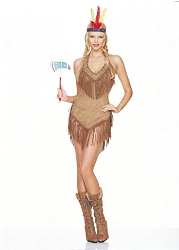 Leg Avenue Womens Indian Girl Native American Outfit Fancy Dress Sexy Costume