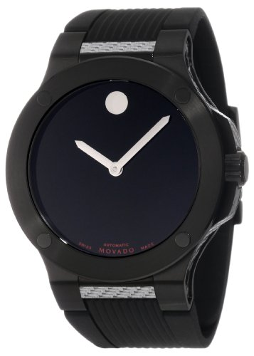 Movado Men's 0606492 S.E. Extreme Black PVD Stainless Steel Case Rubber Strap Watch