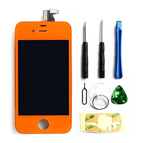 Ztr Replacement Lcd Touch Screen Digitizer Assembly For At&T Gsm Iphone 4 Orange