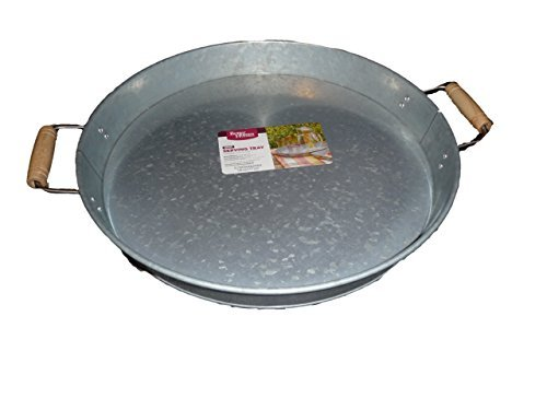 Round Metal Tray Silver (Galvanized Steel Tray compare prices)