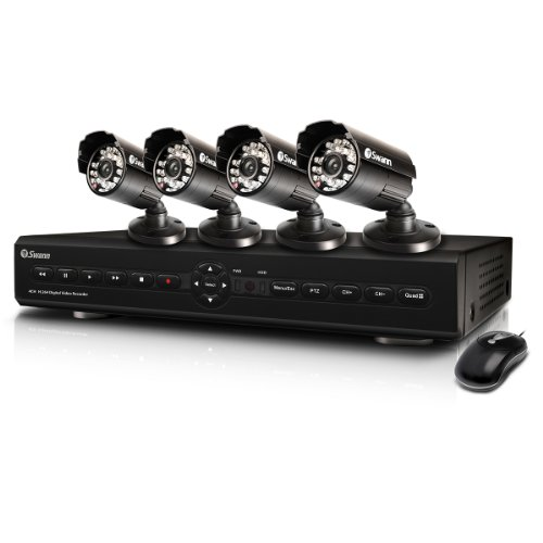 Swann SWDVK-425504 S 4-Channel Digital Video Recorder with Smartphone Viewing and 4 x 600TVL Cameras (Discontinued by Manufacturer)